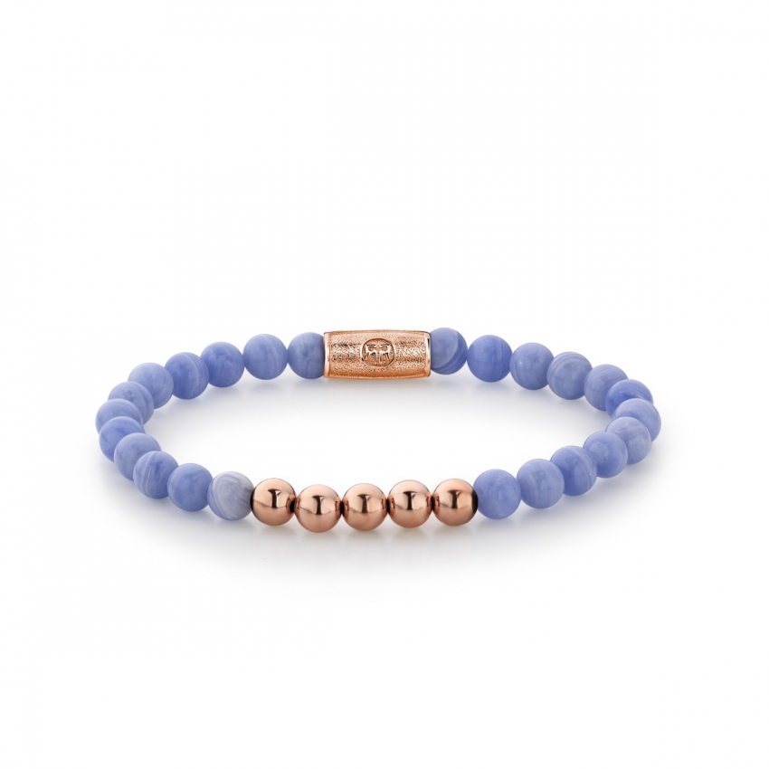 Lavender Lila - 6mm - rose gold plated
