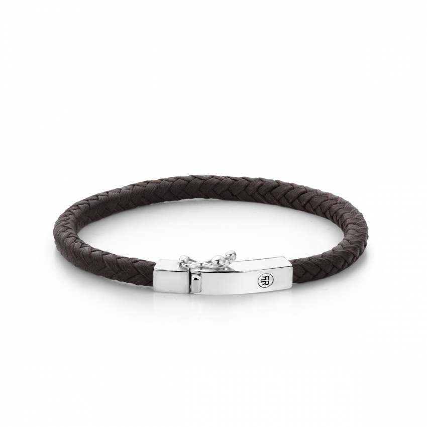 Small Braided Square Brown