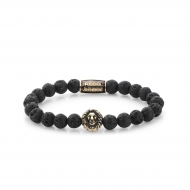 Black Moon - yellow gold plated
