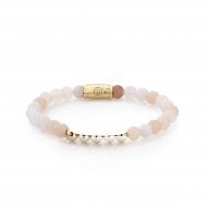 Pink Powder - 6mm - yellow gold plated