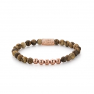 Woodstock - 6mm - rose gold plated