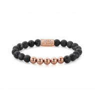 Grey Seduction - 8mm - rose gold plated