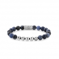 Midnight Blue - 8mm - silver colored