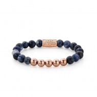 Midnight Blue - 8mm - rose gold plated