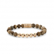 Woodstock - 8mm - rose gold plated