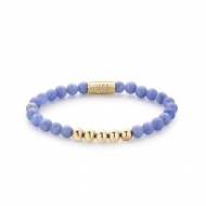 Lavender Lila - 6mm - yellow gold plated