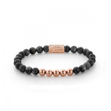 Grey Seduction - 6mm - rose gold plated