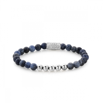 Midnight Blue - 6mm - silver colored