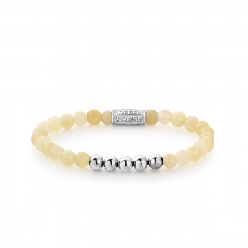 PO - Ivory Beige - 6mm - silver colored